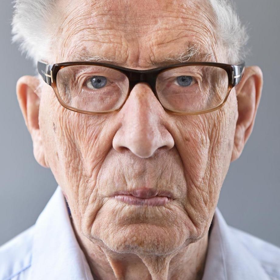 """Per Tonder, 102, aus dem Buch """"100 Jahre Lebensglück"""", Norwegen, 2015"""