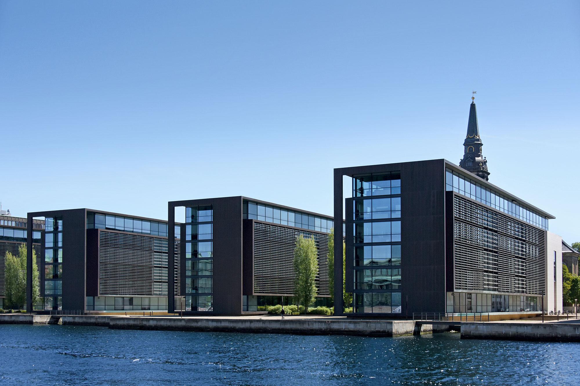 Nordea Bank, Copenhagen, Danmark (architect: Henning Larsen)