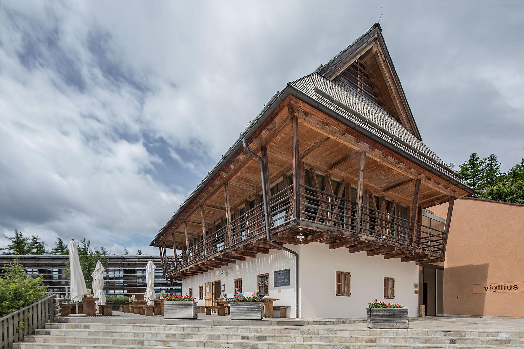 Vigiliius Mountain Resort, Lana, Italy (architect: Matteo Thun)