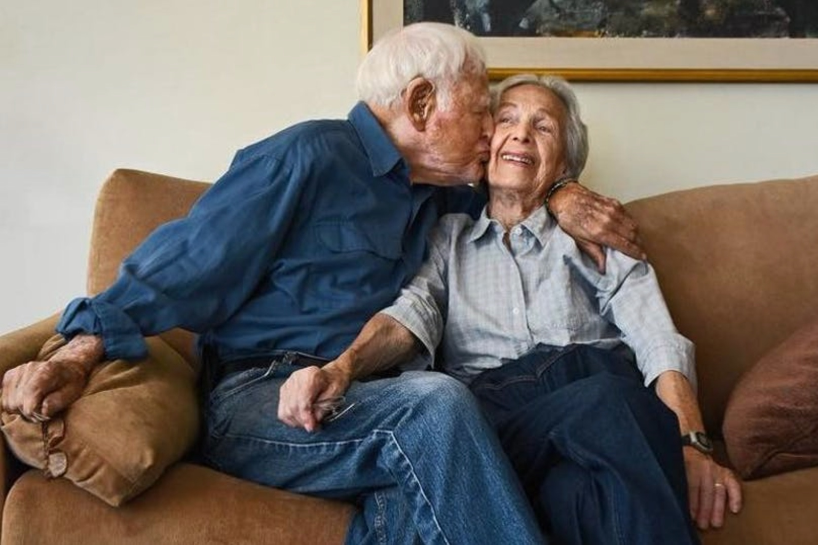 Morrie, 102, and Betty Markoff, 99, Los Angeles, USA, 2015