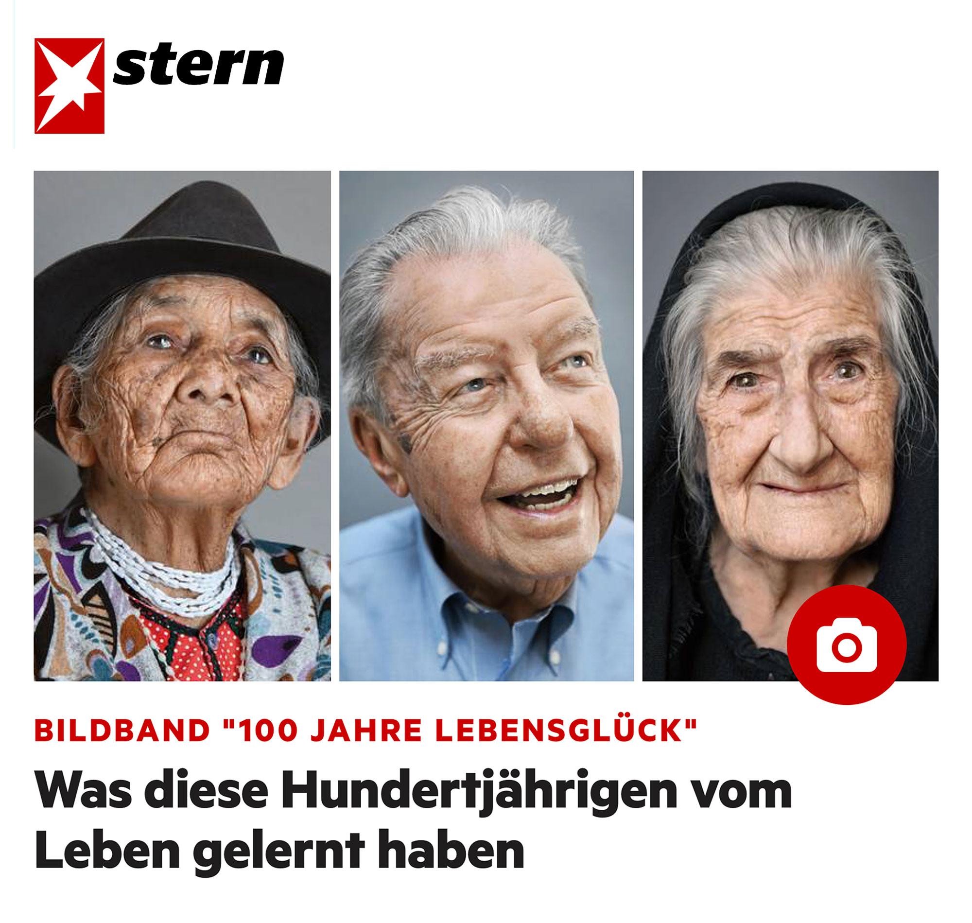 Marìa Luisa, 102, Ed, 102, Tonia, 100, aus dem Buch   100 Jahre Lebensglück  (Knesebeck, München 2017)