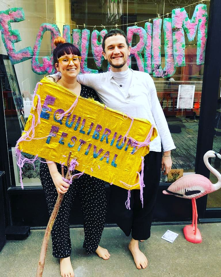 Equilibrium Festival, Jan 2019 - Kim joined up with Fiongal of The Wellness Foundry for a workshop as part of this New Year festival at The Truman Brewery, Shoreditch.