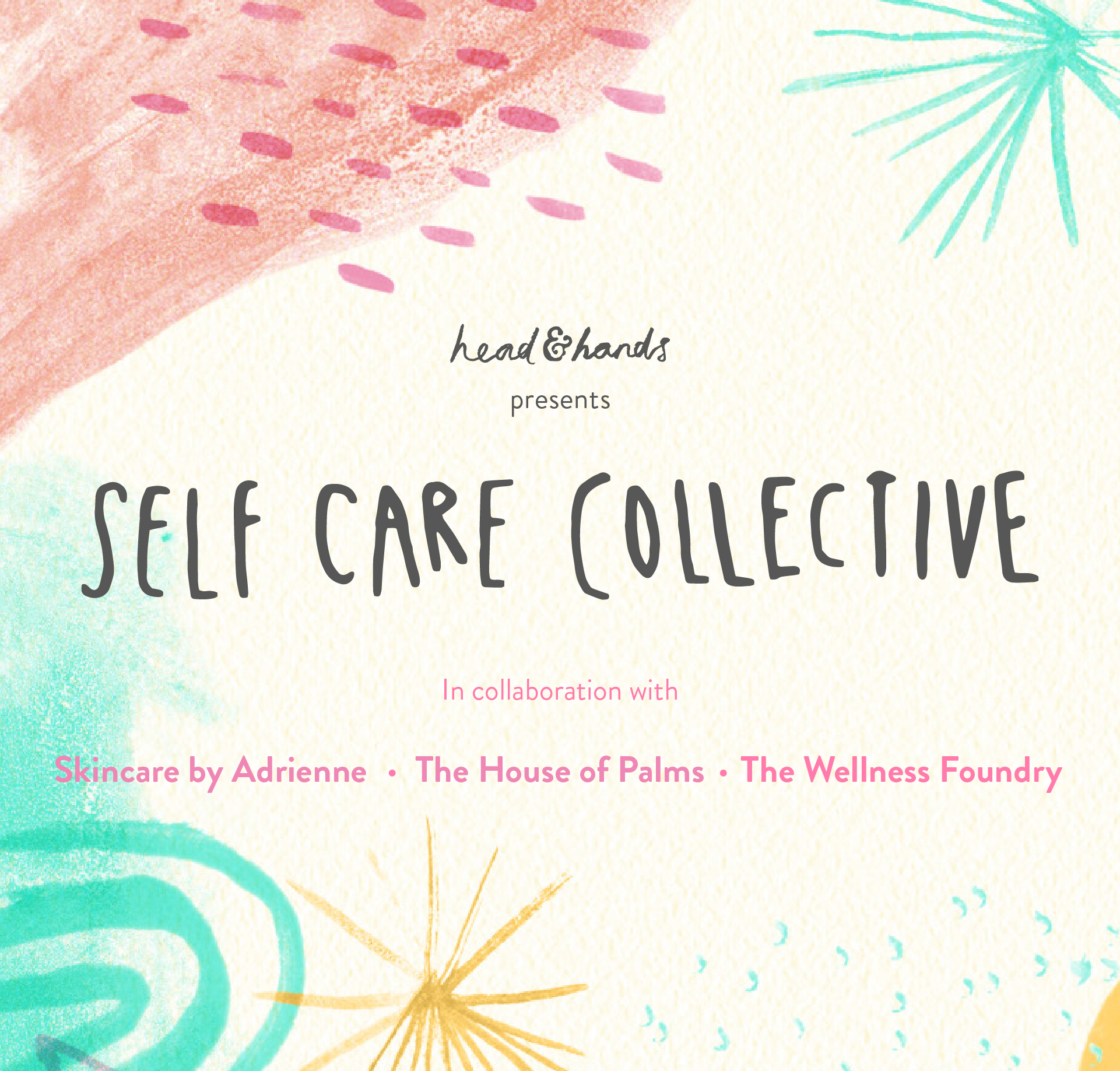Self Love Saturday, May 2019 - We joined up with Head & Hands and Skincare by Adrienne for a relaxed self-care day of holistic treatments, a craft workshop & vegan snacks.
