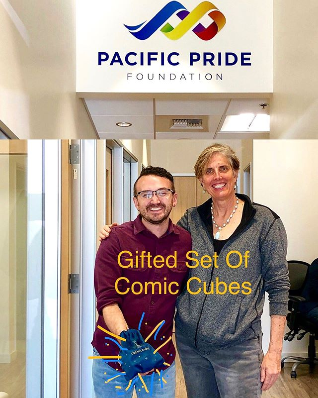November's Gifted Set Of Cosmic Cubes Delivered To @pridecentersb counseling center celebrating #transgender #youth! ✨❤️🧡💛💚💙💜✨ The playful way to connect to the Universe! Magical gifts for the holidays, see our website in the bio 💫🎅🏻💫 #cosmiccubes  #spreadingthejoy  #transyouth  #laughterheals  #magical
