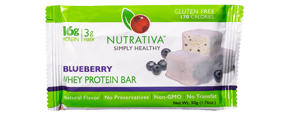 Nutrativa Blueberry Whey Protein Bar