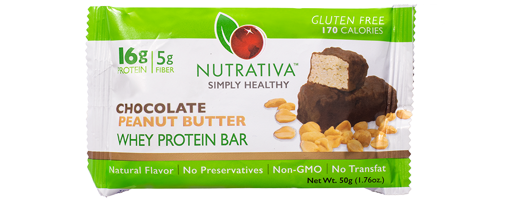 Nutrativa Chocolate Peanut Butter Whey Protein Bar