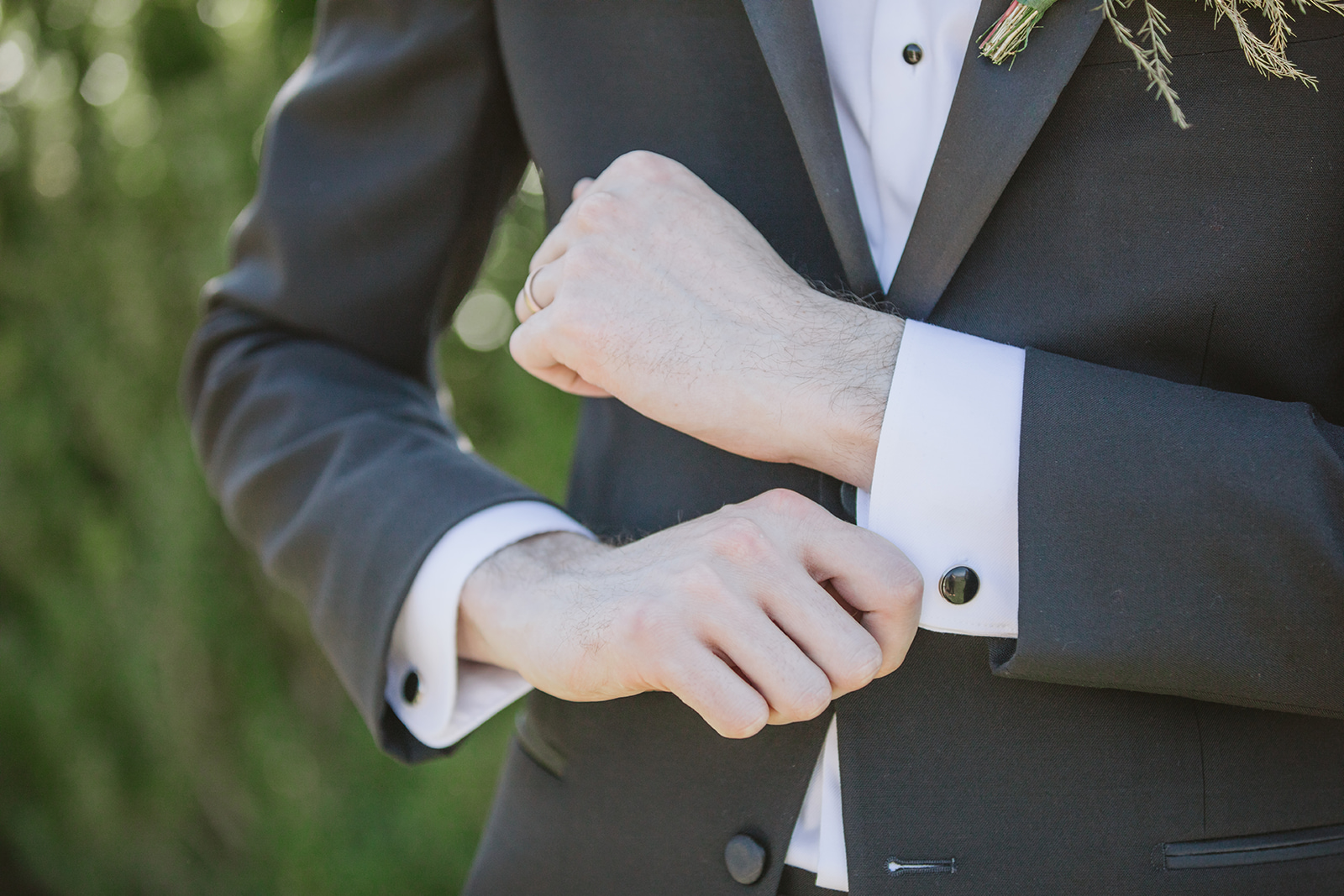 Classic Black Tux for the groom from Formally Modern Tuxedo