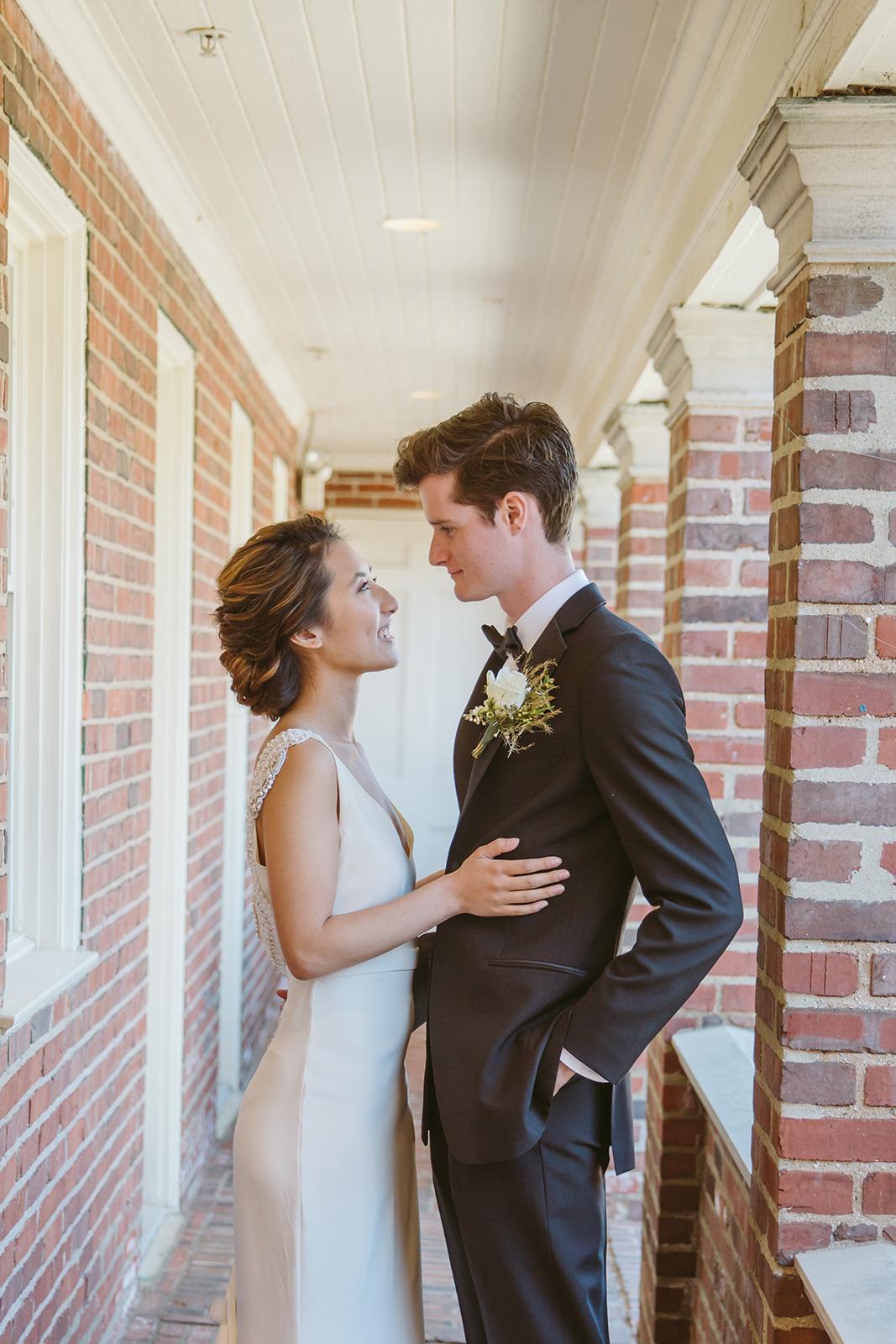 Intimate wedding portrait