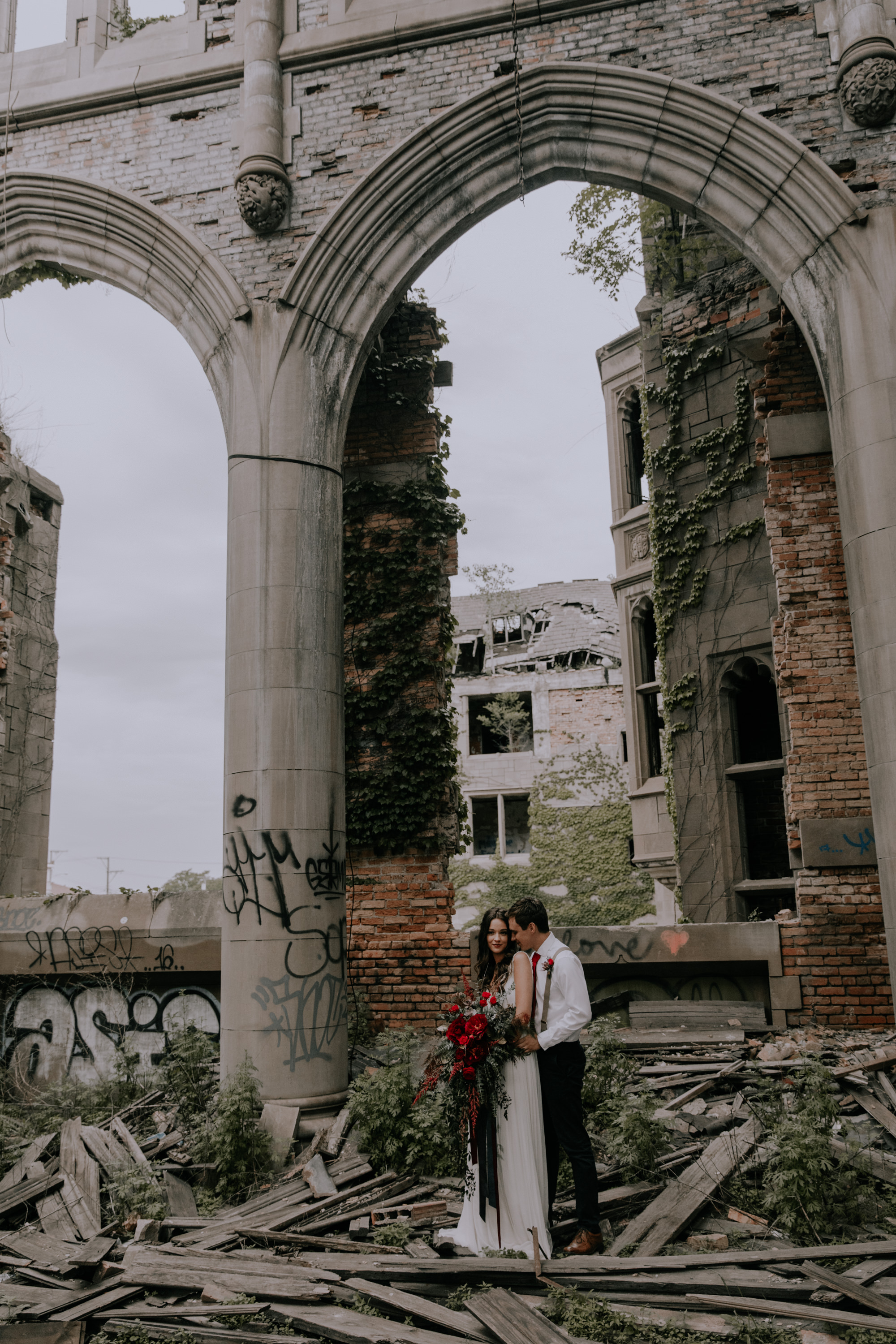 Elopement bridal portraits in Chicago