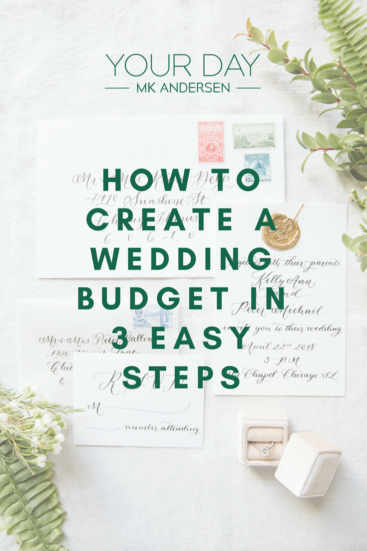 How to create a wedding budget in 3 easy steps