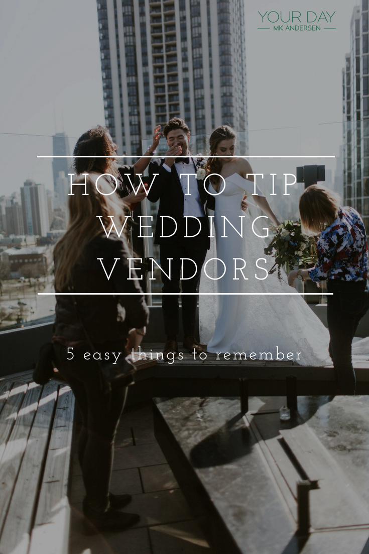 How to tip wedding vendors