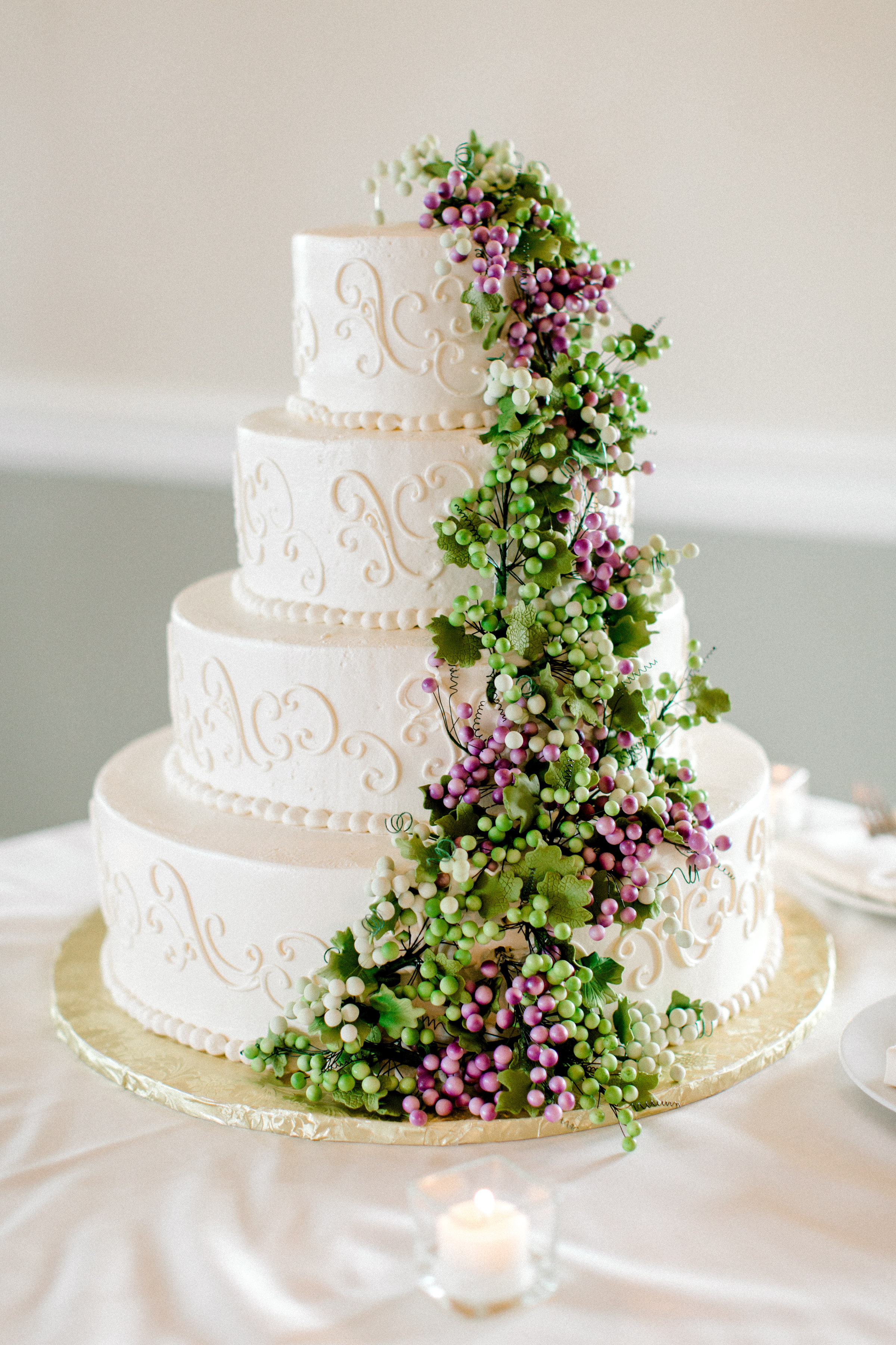 Italian inspired wedding cake Spring Chicago Wedding Planned by Your Day by MK