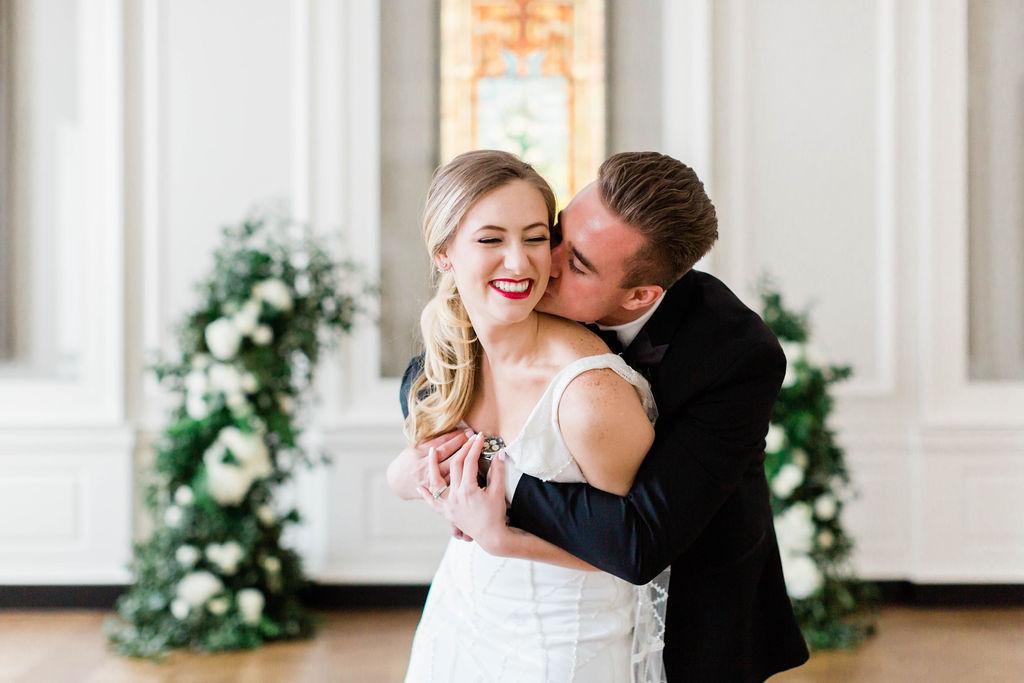 Varca Bridal | Modern Wedding | Chicago History Museum | Black and White Wedding | Black Tie Wedding | Your Day by MK | Chicago Wedding Planner | Black Faltware