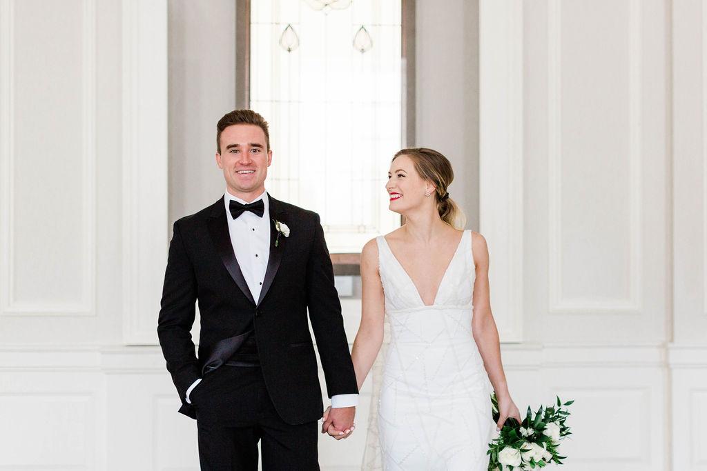 Bridal Portrait Ideas | Varca Bridal | Chicago History Museum | Black and White Wedding | Black Tie Wedding | Your Day by MK | Chicago Wedding Planner |