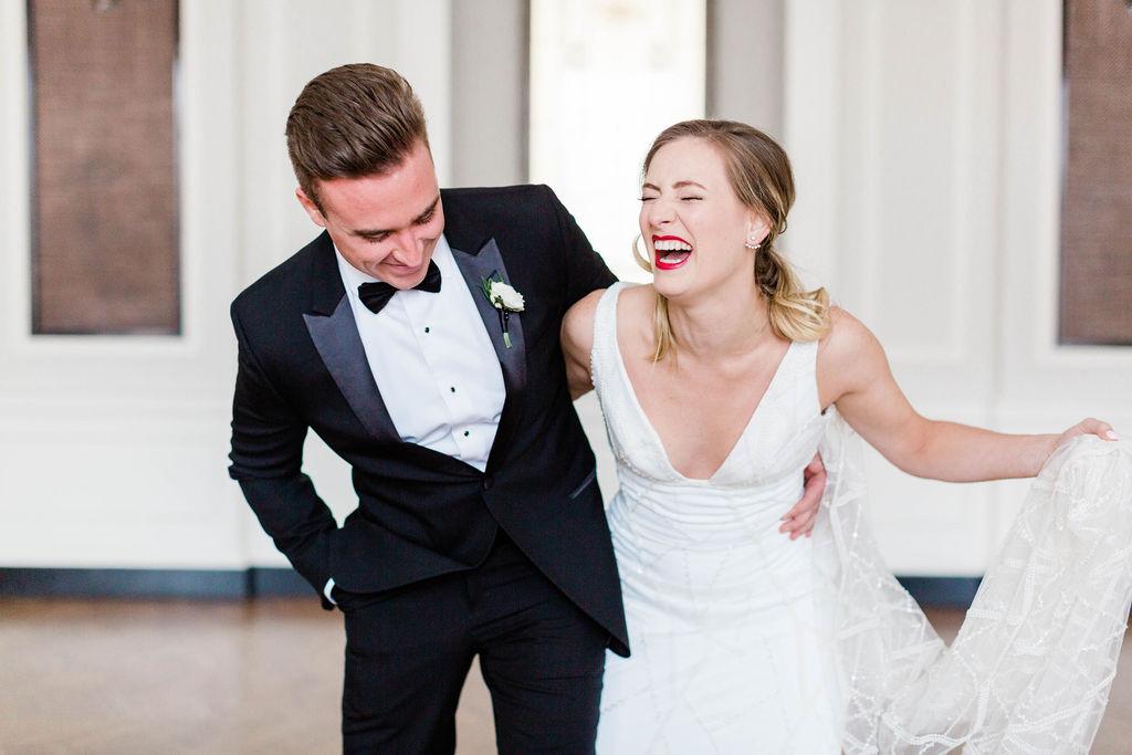 Candid Wedding Photos  | Varca Bridal | Chicago History Museum | Black and White Wedding | Black Tie Wedding | Your Day by MK | Chicago Wedding Planner |