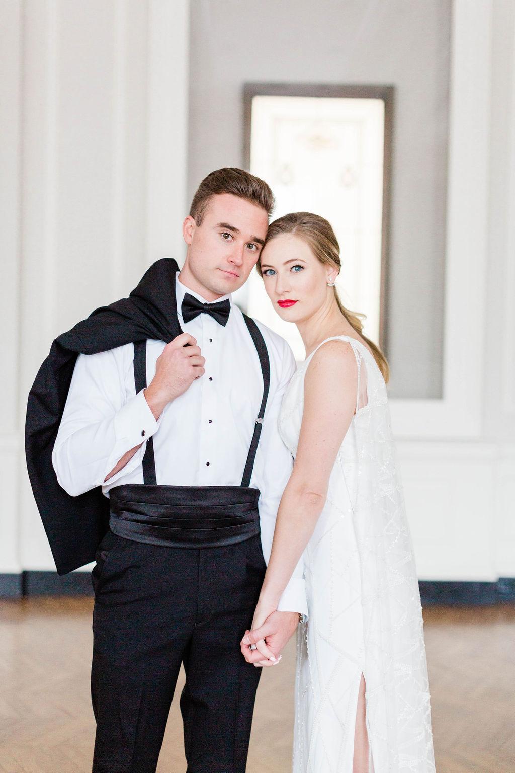 Cummberbund | Varca Bridal | Chicago History Museum | Black and White Wedding | Black Tie Wedding | Your Day by MK | Chicago Wedding Planner |