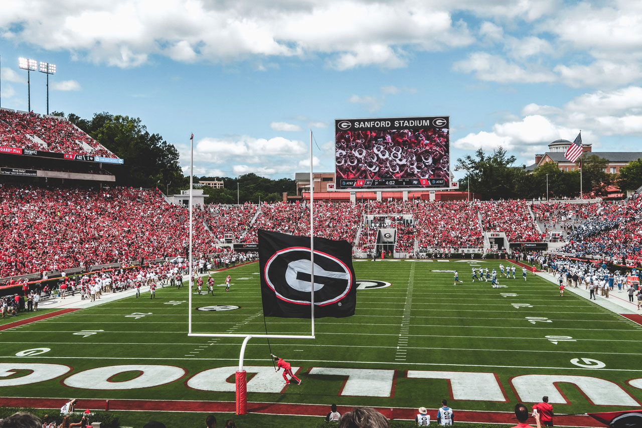 Georgia plays Alabama on 12/1/208 for the 5th straight time in the state of Georgia since 2008. ( Photo: Scott Duvall / Jawavi Films )