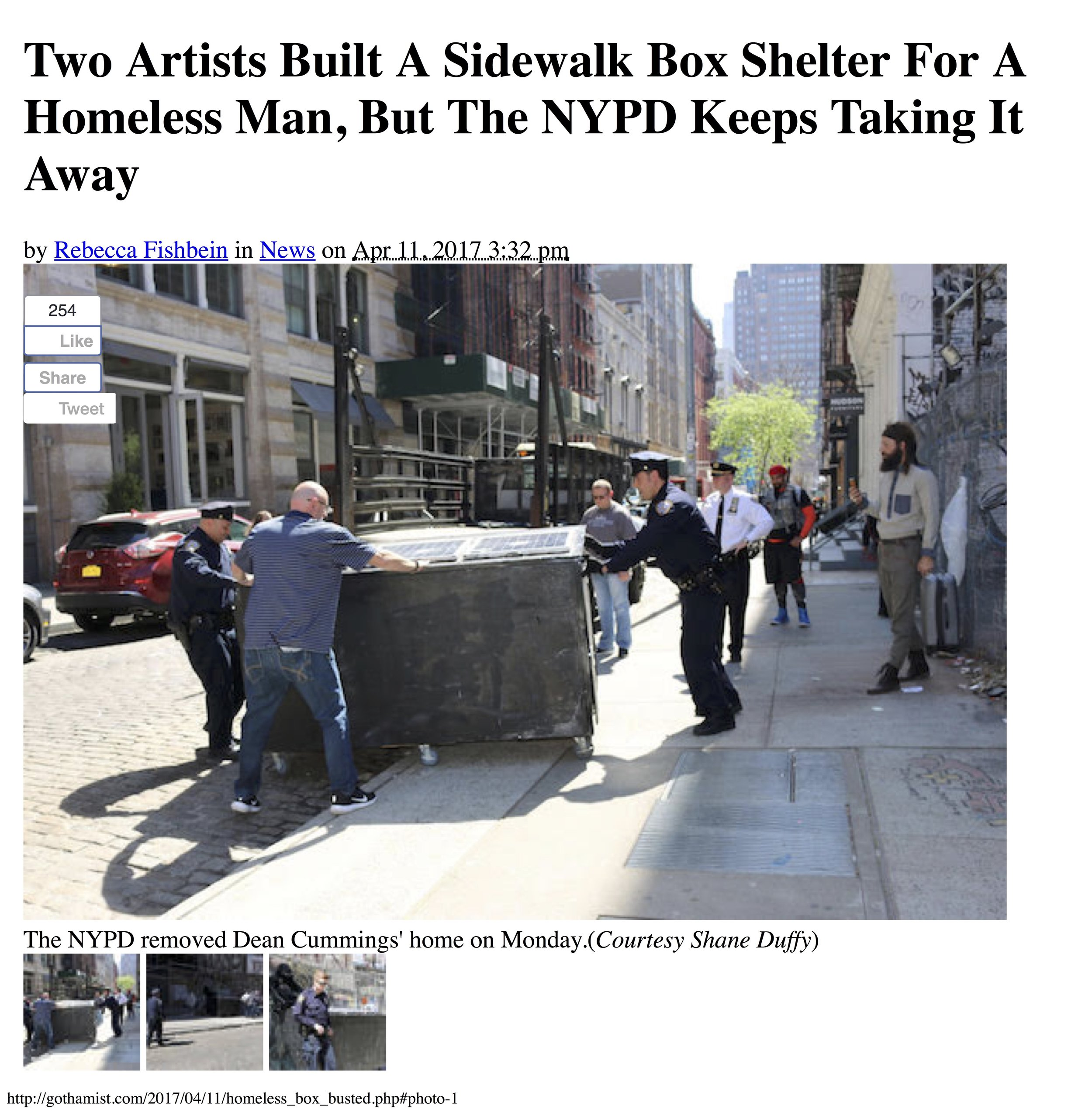 Two Artists Built A Sidewalk Box Shelte...e NYPD Keeps Taking It Away- Gothamist copy.jpg
