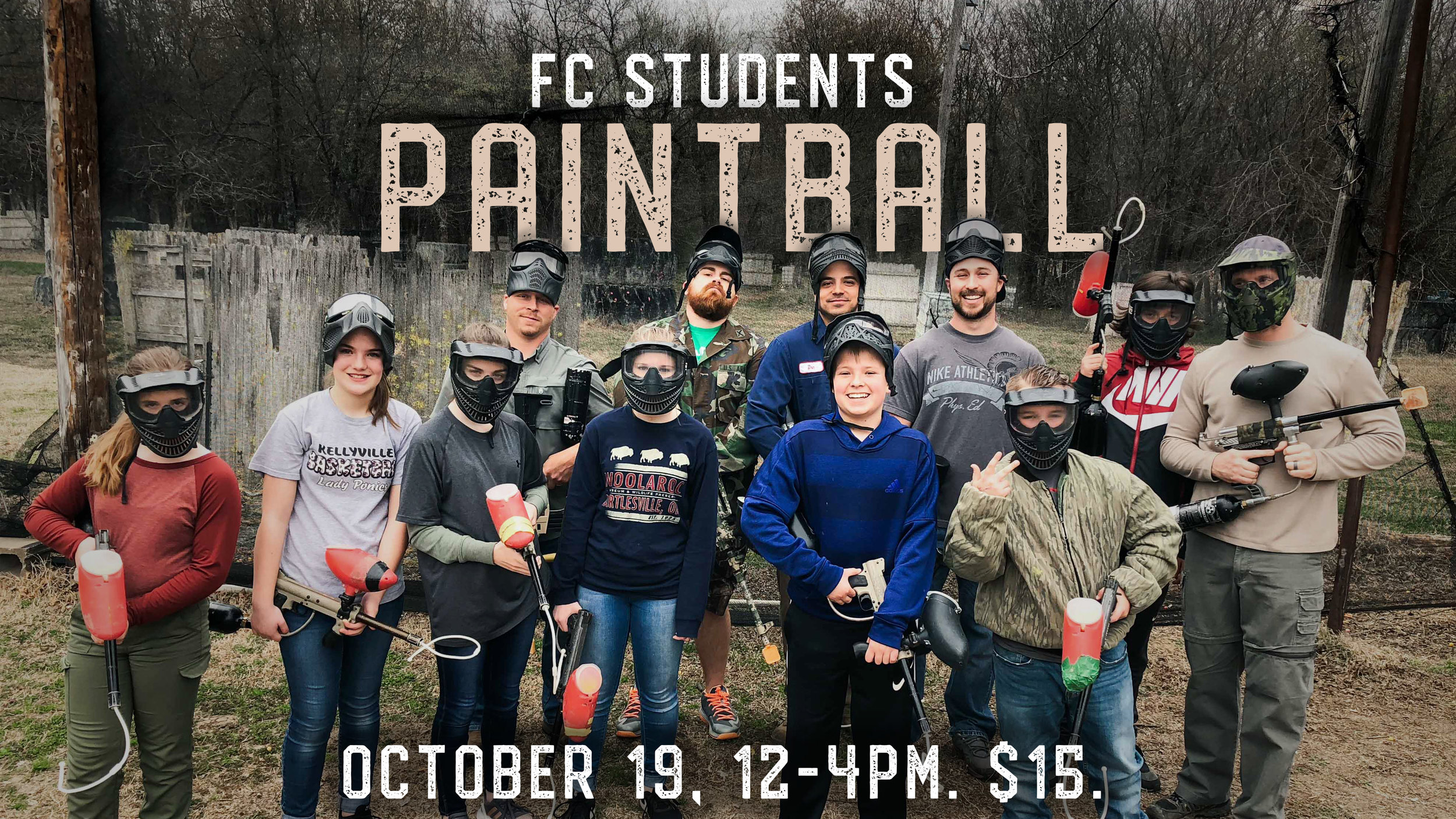 Foundations Church Students Paintball Event October 19