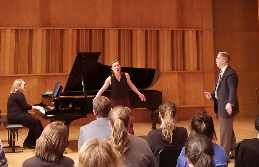 Masterclass with Warren Jones at CU Boulder (Barbie Noyes, piano) 2019 - Photo by Alexandra Nguyen