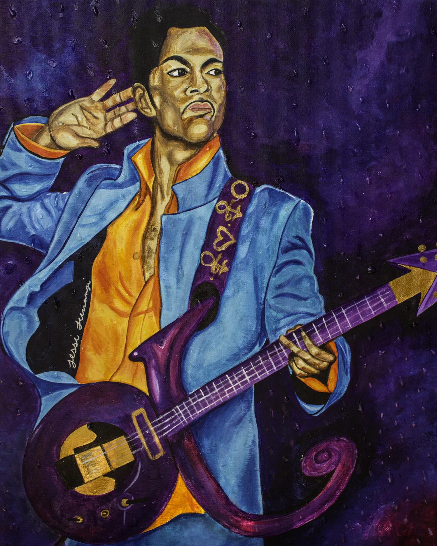 "Prince ""Purple Rain"" Artist Jessi Jumanji     Pittsburgh, PA"