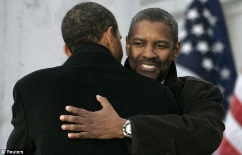 Barack Obama & Denzel Washington -U.S. Embassy Jakarta, Indonesia via VH