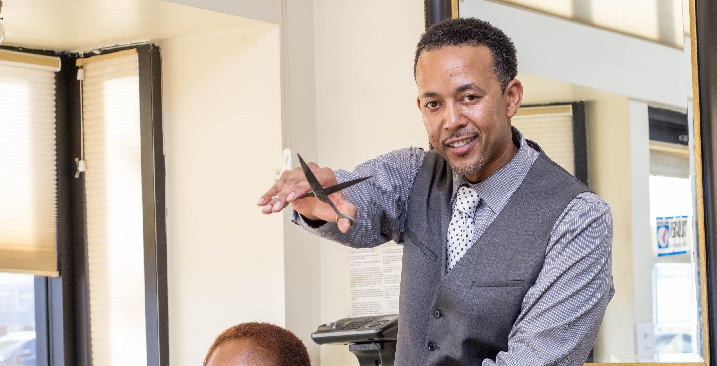 C.E.O of Nile Style Barbershop, Shanile Shakoor