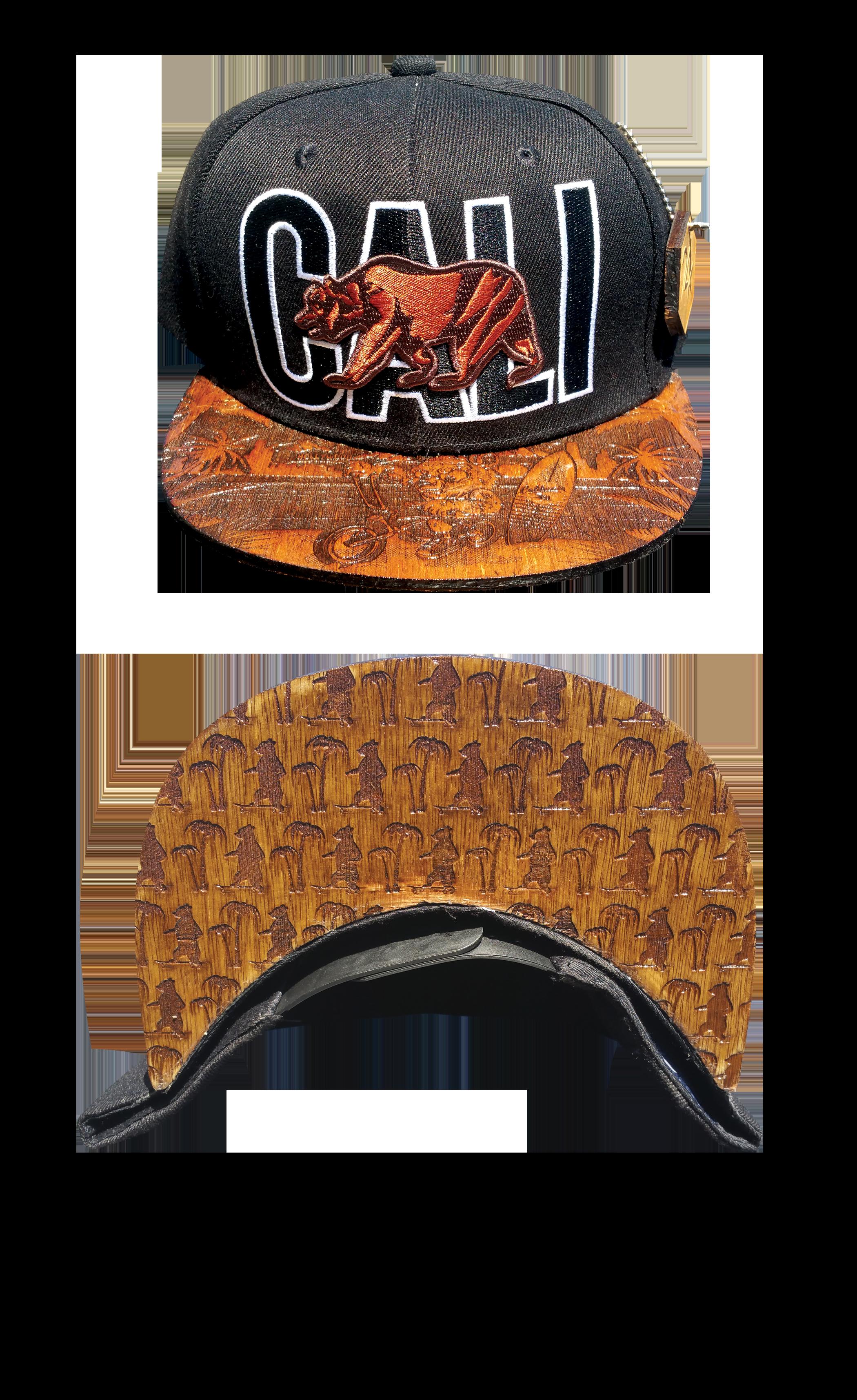 24K Wood Etched Brims Hats San Diego, CA