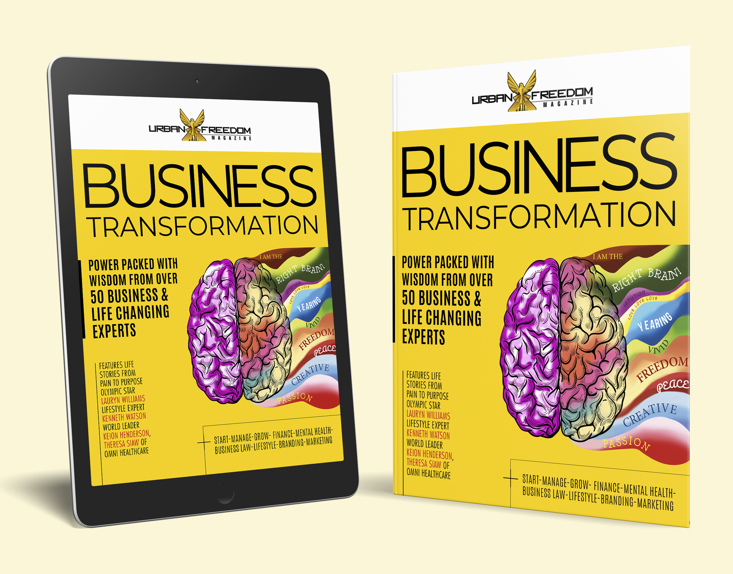Urban Freedom Magazine Business Transformation Issue Covers.png