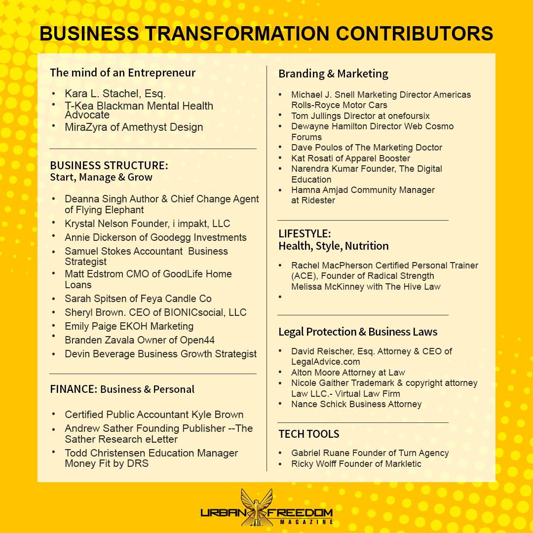 Urban Freedom Magazine Business Transformation Contributors Flyer.jpg