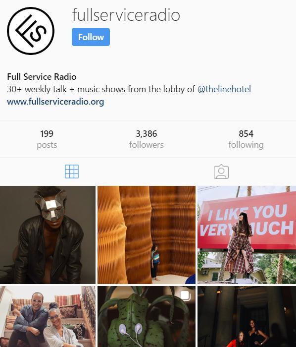 The Line DC Full Service Radio Instagram @fullserviceradio
