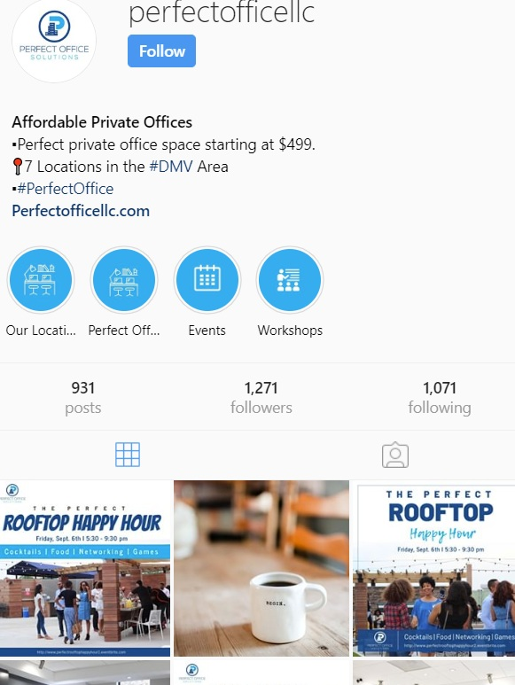 Perfect Office LLC Maryland Instagram @perfectofficellc