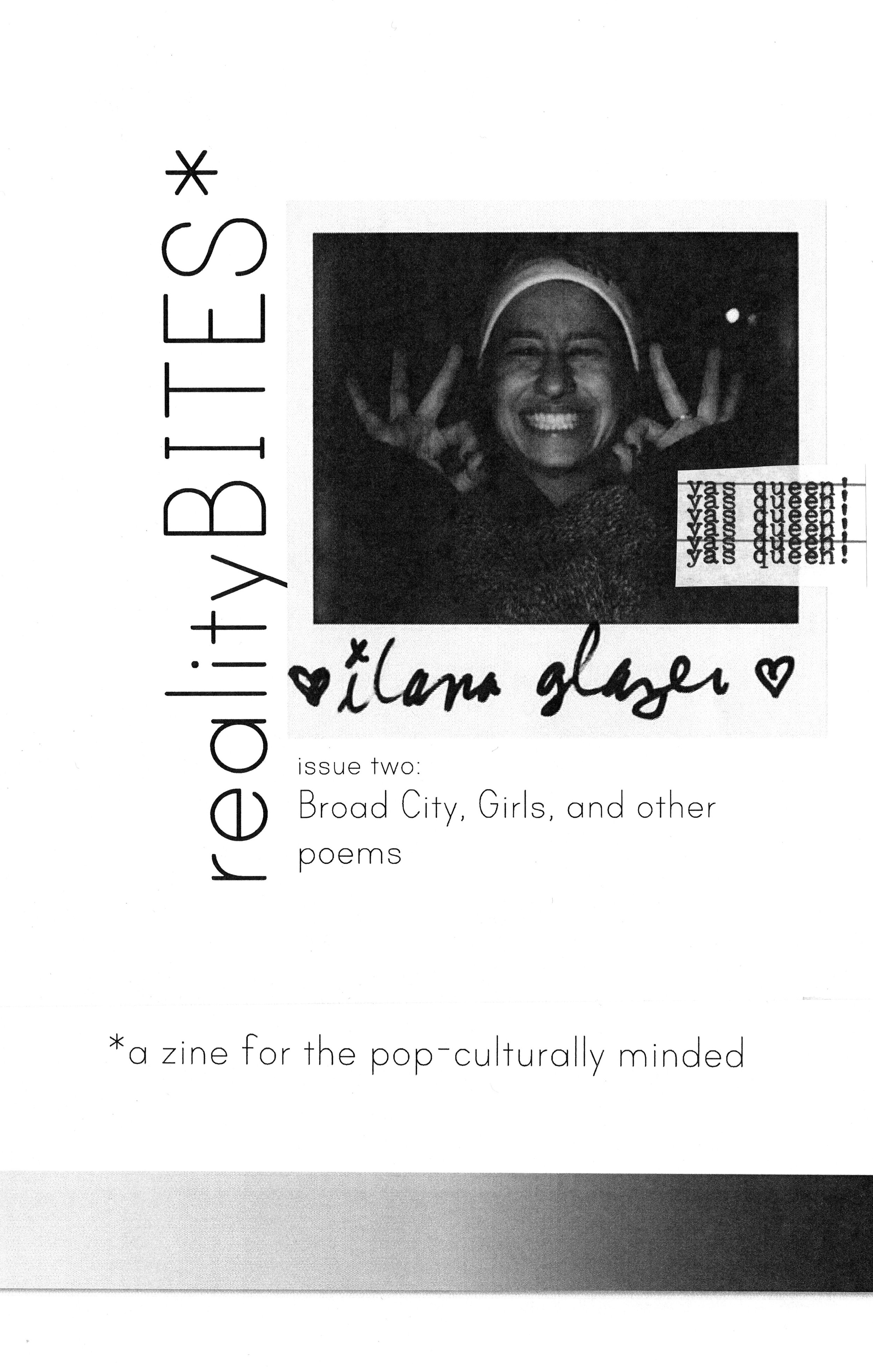 realityBITES | issue 2 - broad city, girls, and other poems