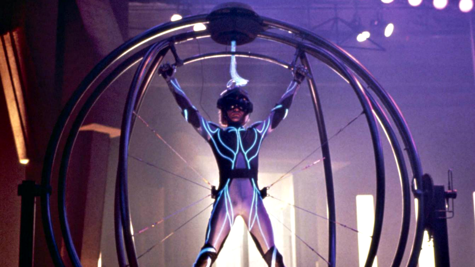 The complex VR hardware of Lawnmower Man