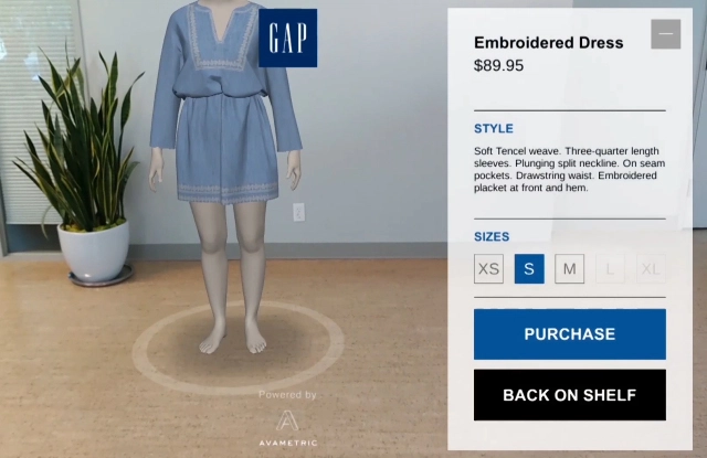 Avametric and Gap teamed on the shopping app Dressing Room by Gap  Courtesy Photo