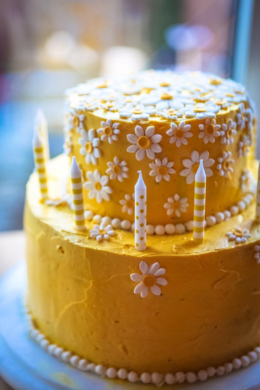 2 etg kake med valgfri farge og smak   En søt og morsom kake som passer like godt til bursdag, bryllup og konfirmasjon!   PRISER Vanlig eller Vegansk:  14 + 20 cm: 1450,- 18 + 24 cm: 1850,-