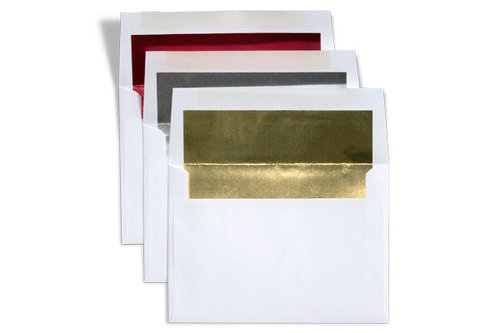 White + Foil Lining (Red, Silver, or Gold)