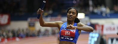 Ajeé Wilson:  The New Jersey native has quickly become one of the most decorated US middle distance runners in history! Wilson is the current indoor and outdoor American Record Holder and was the anchor of the US 4x800m team that broke the World Record at the 2018 NYRR Millrose Games.