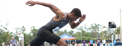 Najee Glass:  Glass helped the University of Florida capture a national title in the 4x400m during 2013 and earned NCAA All-American honors 16 times! He now competes professionally and finished 7th at the 2016 US Olympic Trials.