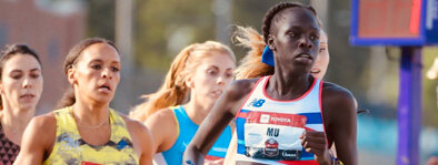 Athing Mu:  Though just a senior in high school in 2019-20, Mu has burst onto the scene as one of the most exciting mid-distance runners in the world. At the 2019 USATF Indoor Championships she broke the American Record on her way to victory in the 600m.