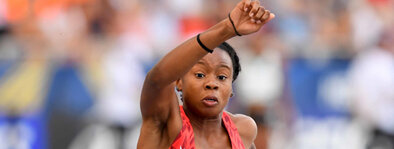 Keturah Orji:  A native of Mt. Olive New Jersey, Orji is the winningest track & field athlete in NCAA history. She won 8 individual NCAA titles, was named the 2018 Bowerman award winner and placed 4th at the 2016 Rio Olympics.