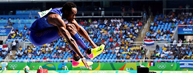 Will Claye:  Claye is one of the greatest long/triple jumpers in the history of track & field. At the 2012 Olympic Games Claye became the first athlete since 1936 to win a medal in both the long and triple jump in the same games.