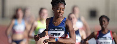 Kenyetta Iyevbele:  Iyevbele is a native of Charlotte, NC and went on to be a 2 time All-American at NC State in the 800m. Currently she is a part of the Hoka One One NJNY Track Club specializing in the 800m.