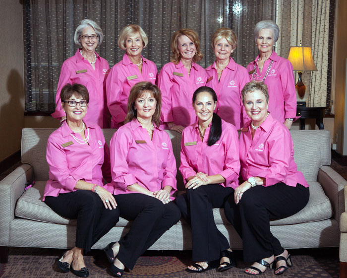 Pink Alliance Board of Directors  ( from left to right - front row)   Kay McWhorter, Jeannie Kipp, Cheryl Pederson, Patricia Gerling; back row, Carolyn Oatman, Janie McDougal, Doris Light, Sally Dee Wade, Reba Ragsdale]