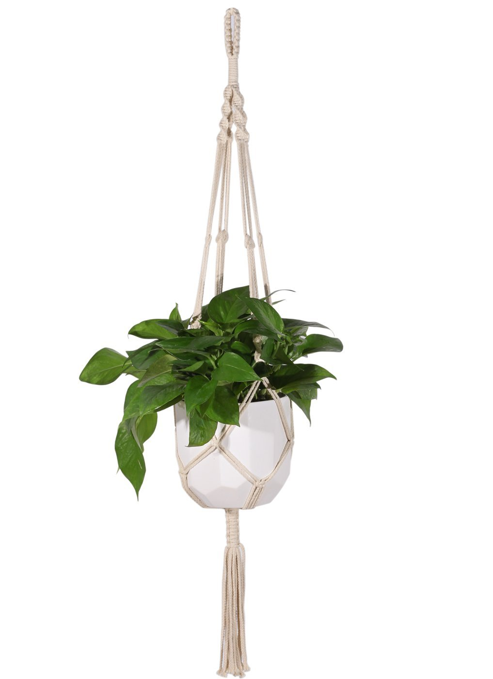 Spring is upon us. - Explore how to make a Macrame Plant Hanger for your green friends.