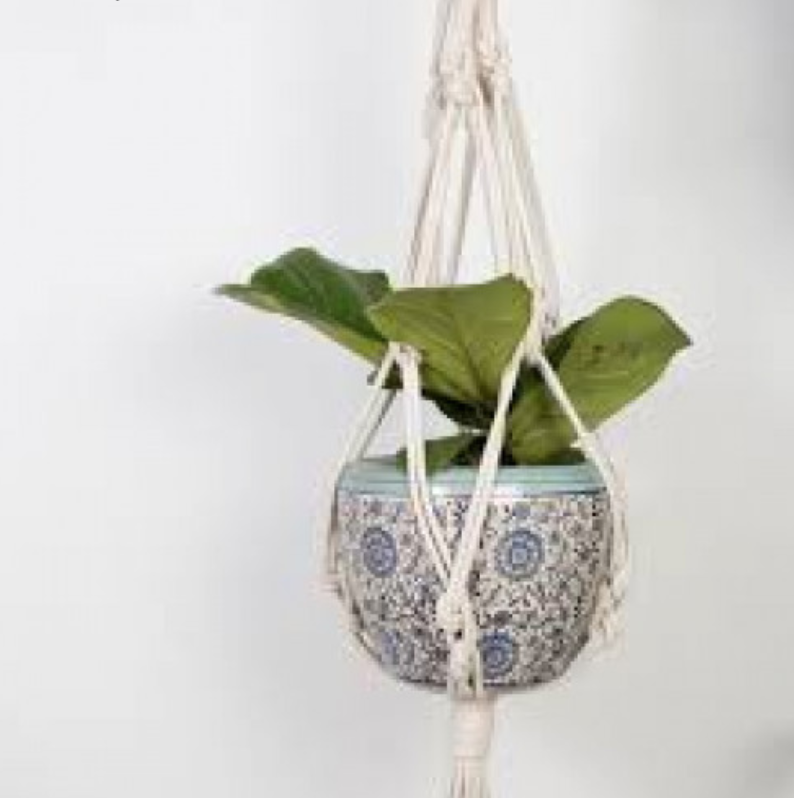 Grab a friend... - and have fun creating a Macrame Plant Hanger for your home.