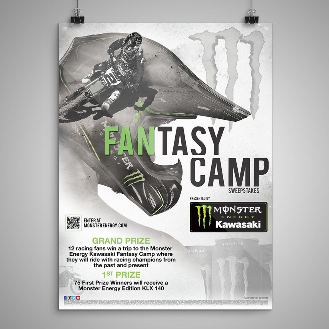 MONSTER ENERGY Fantasy Camp Poster