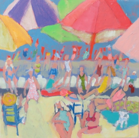 lucy paige artist key west beach day series collage Beach Day.jpg