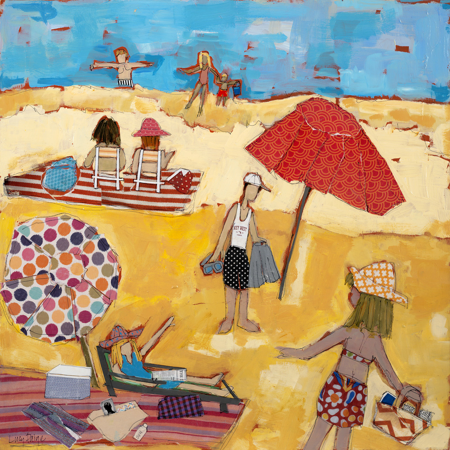 lucy paige artist key west beach day series collage Meet Me At The Beach .jpg
