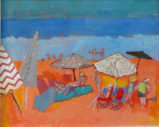 lucy paige artist key west beach day series collage Tangerine Beach.jpg